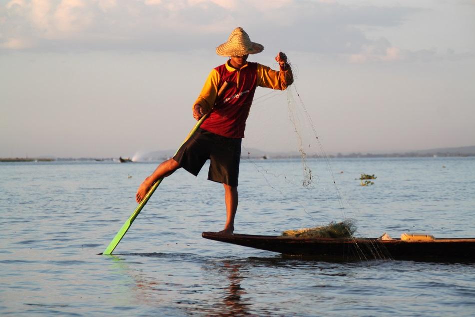 A Fisherman at Inle Lake