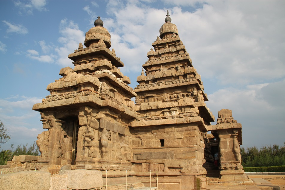 The 8th Century Shore Temple, Mahabalipuram