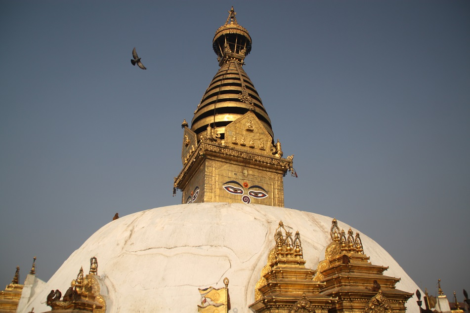 Swayambhunath without the Prayer Flags