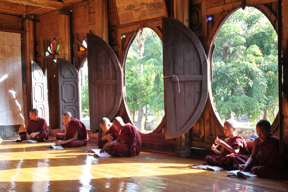 Novice Buddhist Monks at Shwe Yan Pyay Monastery, Just Outside Nyaung Shwe