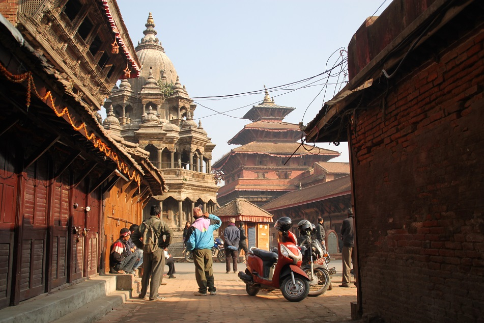 Krishna Temple and Royal Palace in Patan, Nepal