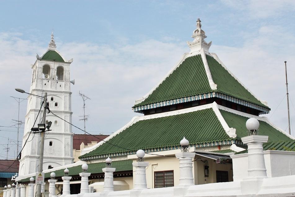 Kampung Kling Mosque in Malacca, Malaysia