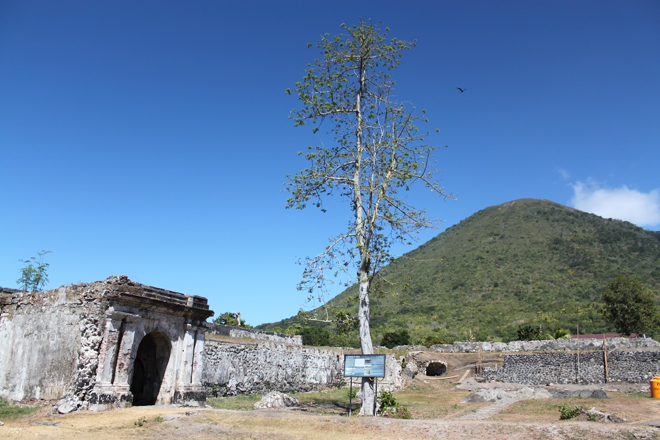 Fort Nassau in Banda Neira, Indonesia