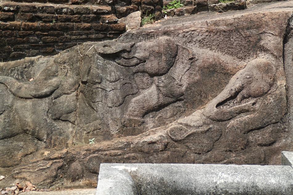 Elephant Carvings at Ranmasu Uyana