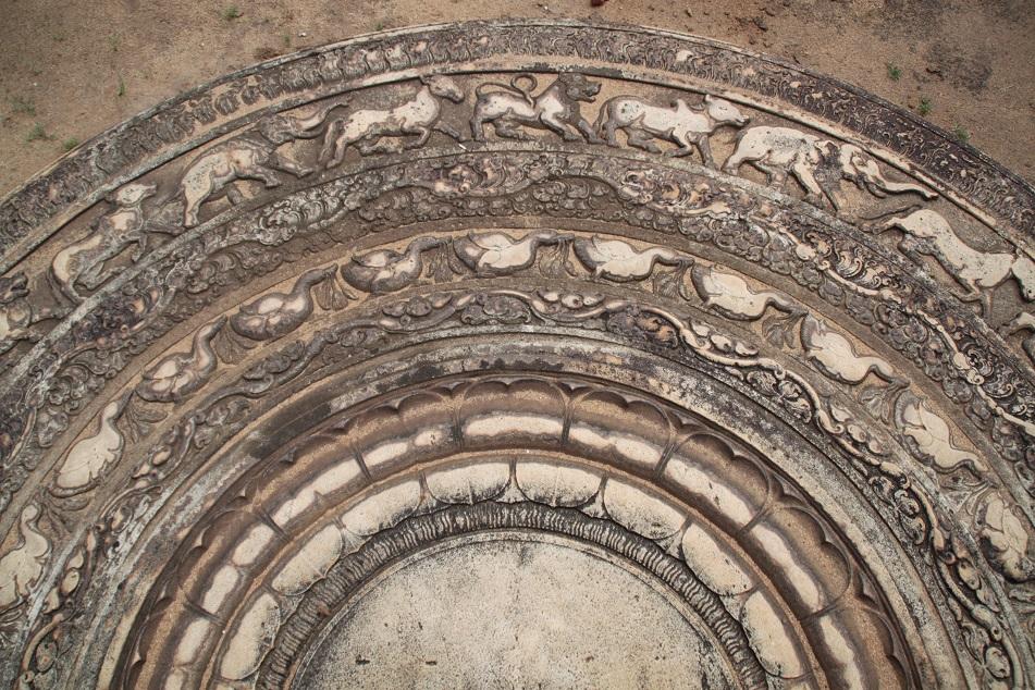 Moonstone in Abhayagiri Monastery Complex
