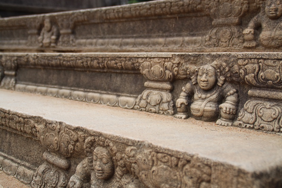 Dwarf Figures Adorning the Steps above the Moonstone