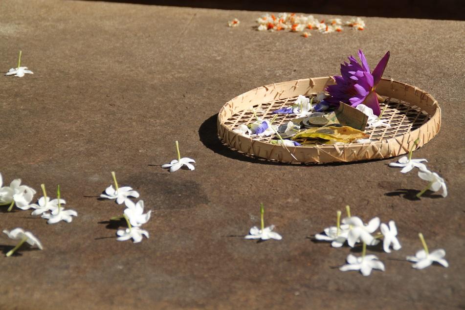 Floral Offerings near Samadhi Buddha