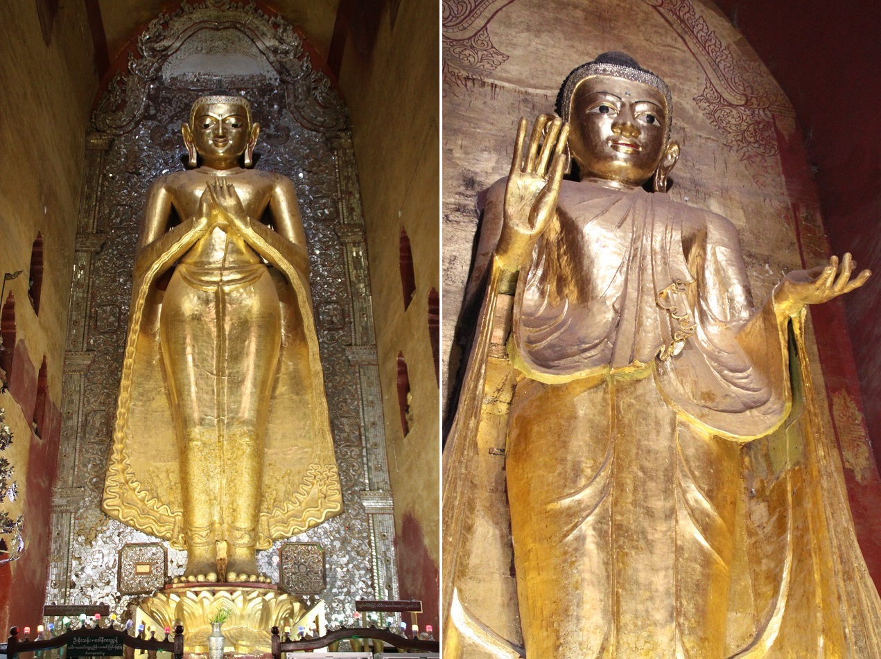 Two of the Four Buddhas inside Ananda