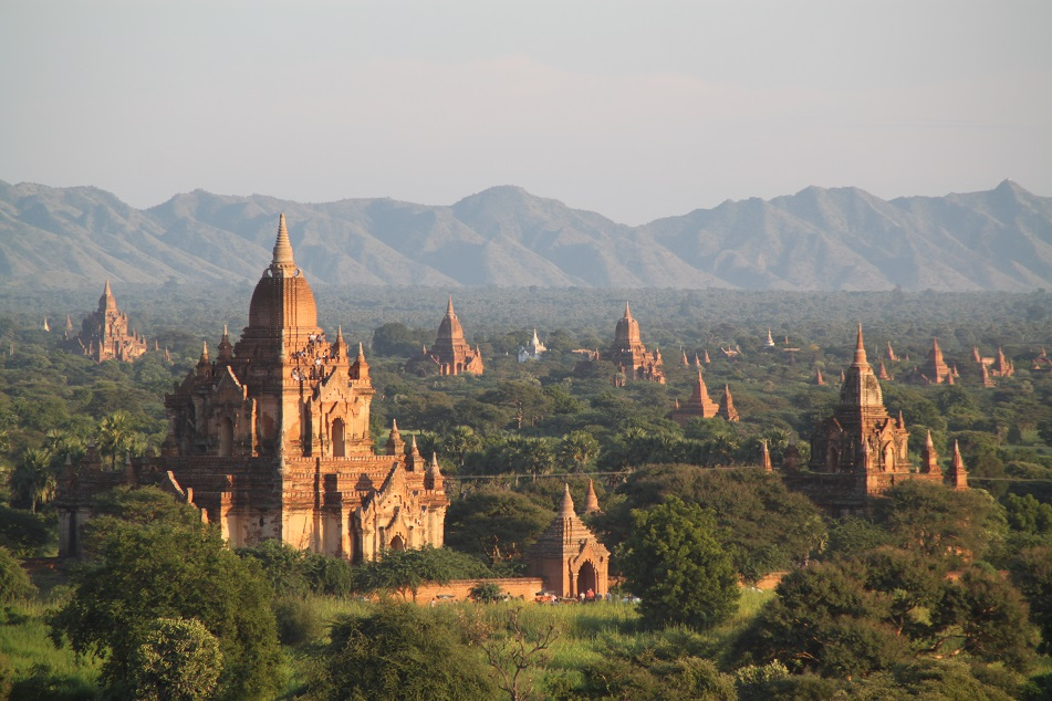 View of Bagan Plain before Sunset