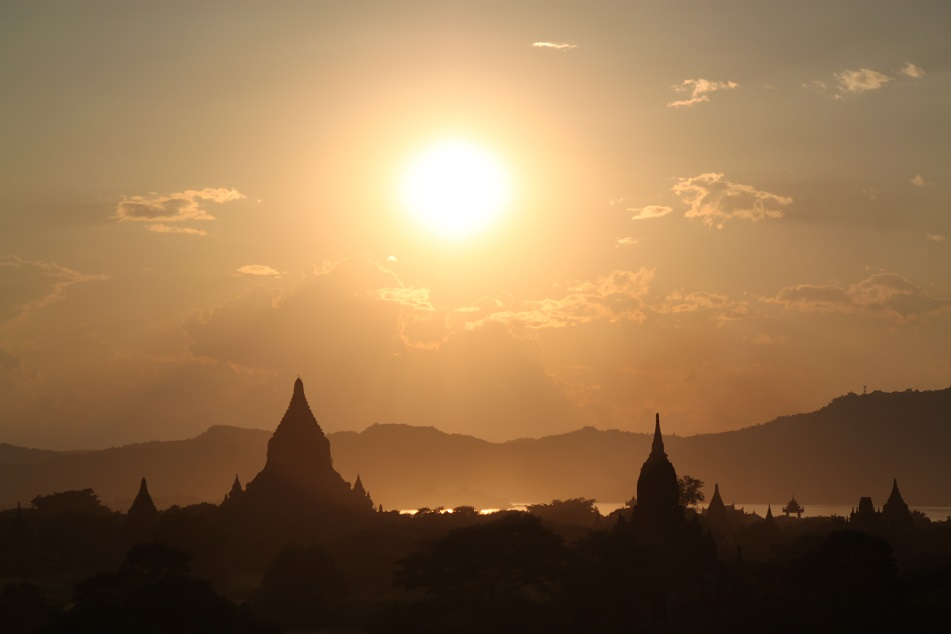 Sunset over Bagan