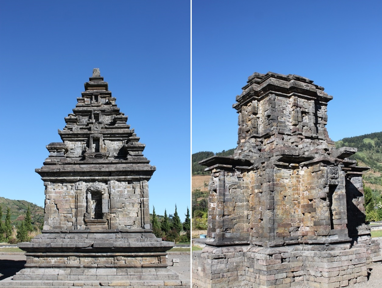Candi Arjuna (left) and Puntadewa