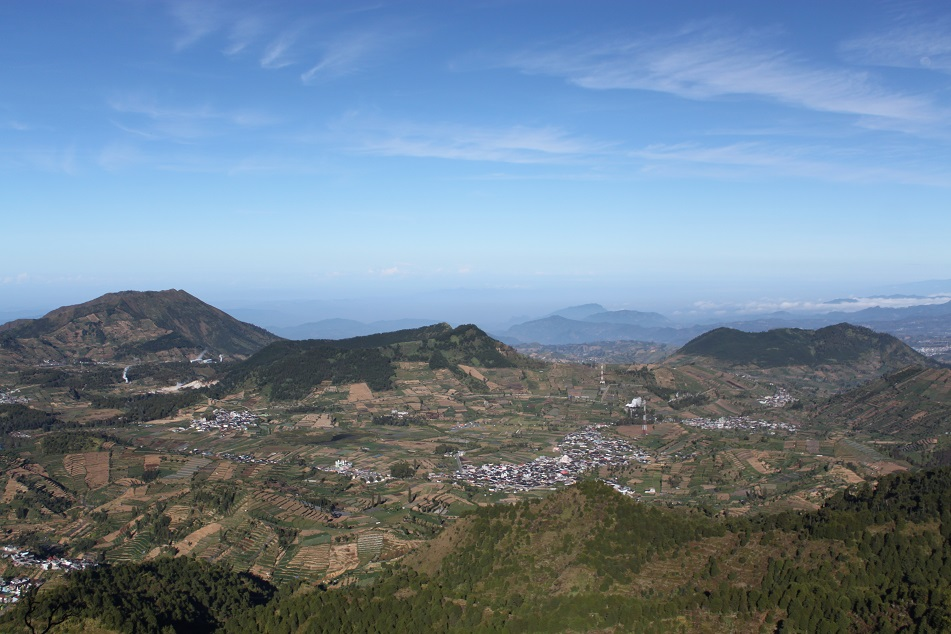A Bird's-Eye View of Dieng Plateau