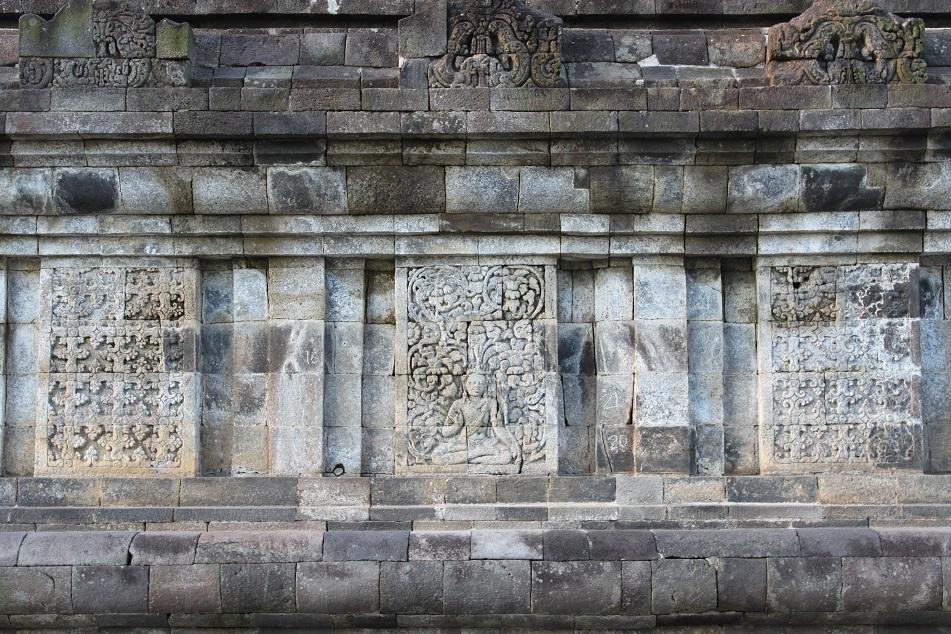 Bodhisattva and Geometric Floral Patterns