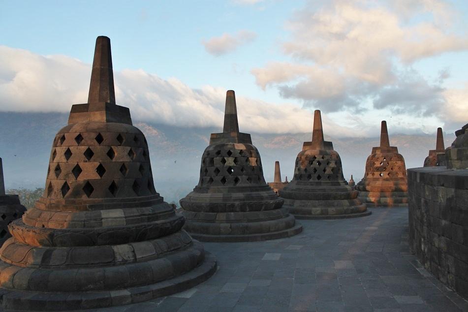 Stupas at Arupadathu