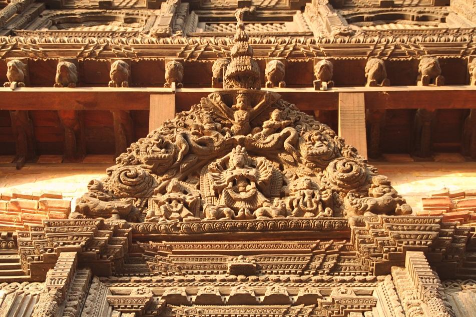 Garuda Carvings at the Palace of 55 Windows