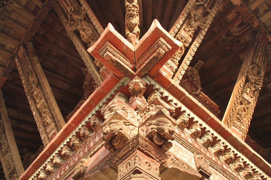 Intricate Wooden Struts