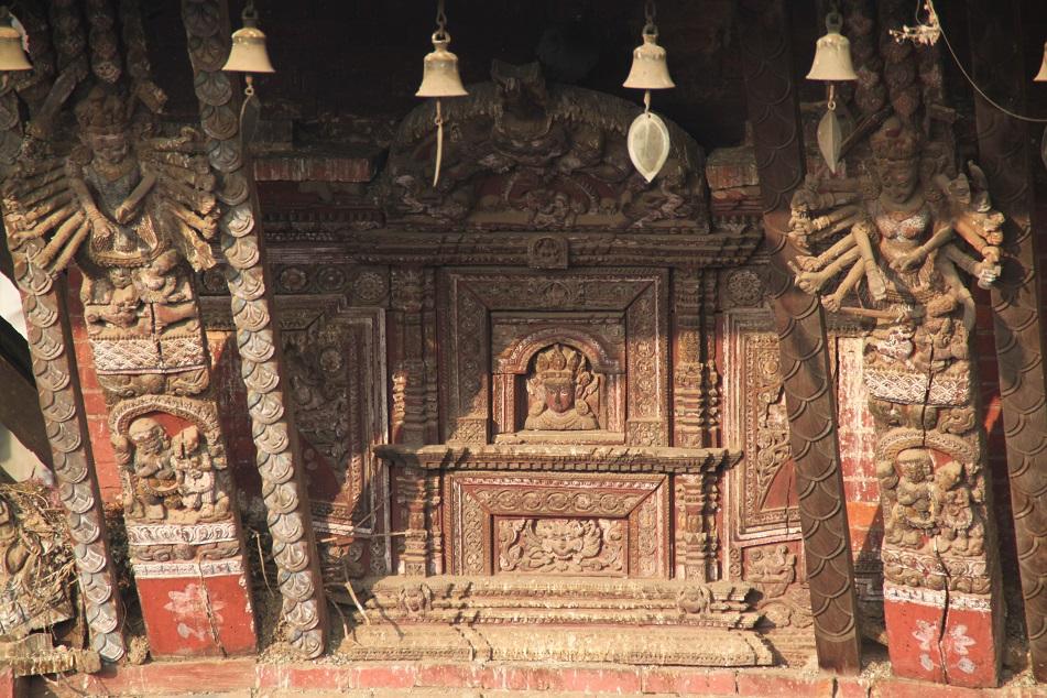 Tantric Goddesses at Nyatapola's Wooden Struts