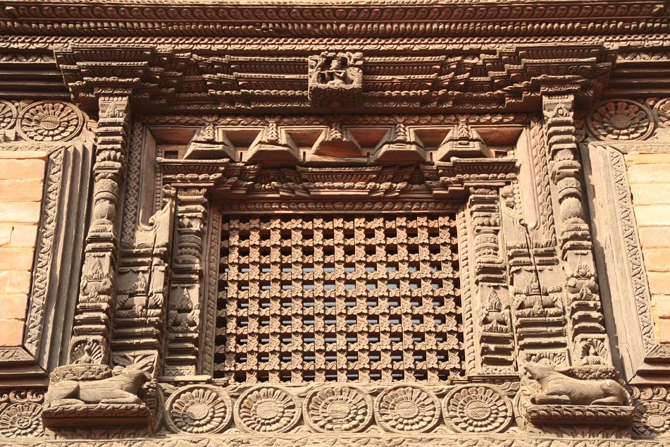 Intricate Newari Window Style
