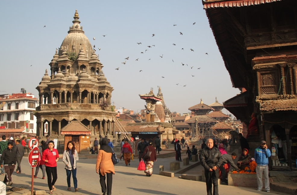 View of Patan Durbar Square from the East of the Main Thoroughfare