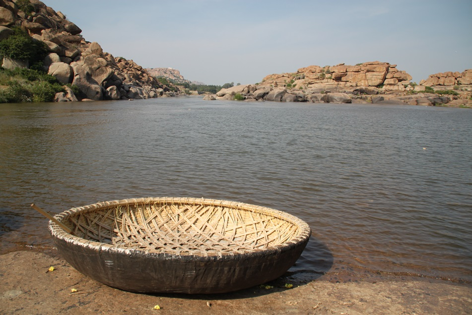 A Coracle by Tungabhadra River