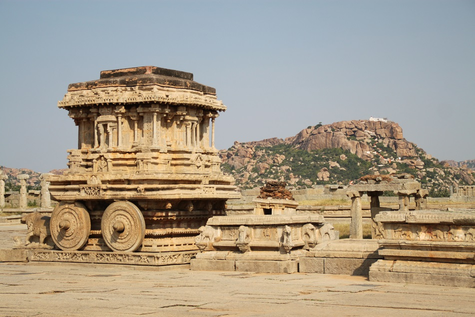 Kallina Ratha (Stone Chariot) in front of Vittala Temple