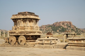 Kallina Ratha (Stone Chariot) in front of Vittala Temple