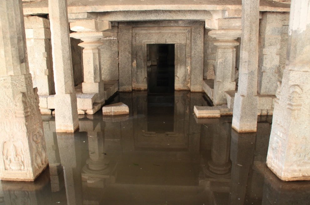Inundated Inner Sanctum of Prasanna Virupaksha