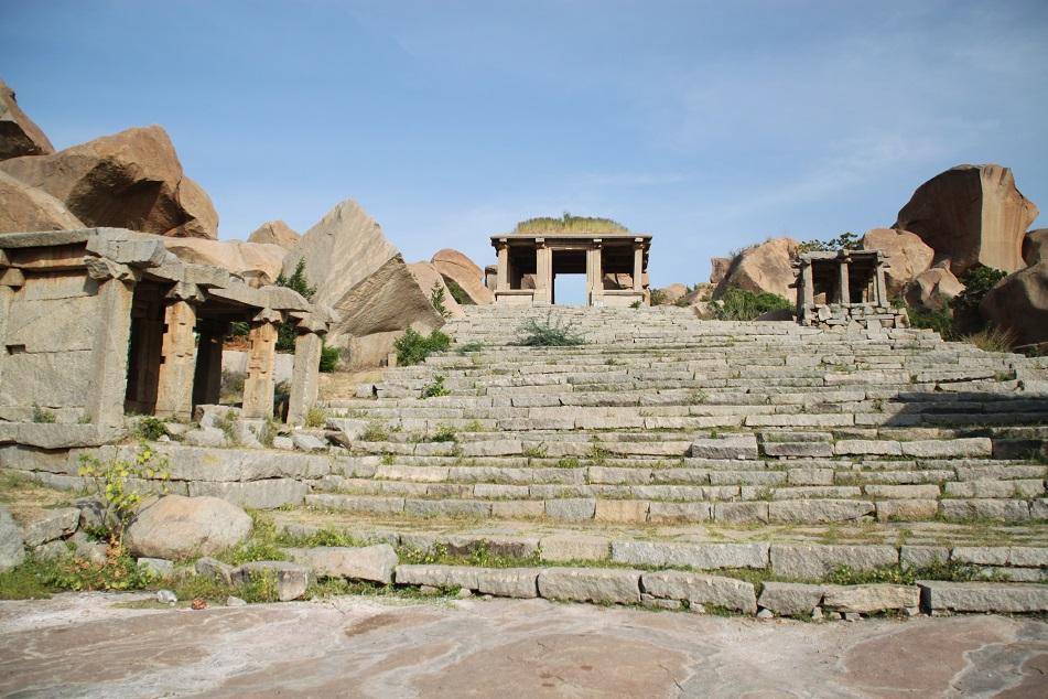 Walking Up Matanga Parvata to Reach Achyutaraya Temple