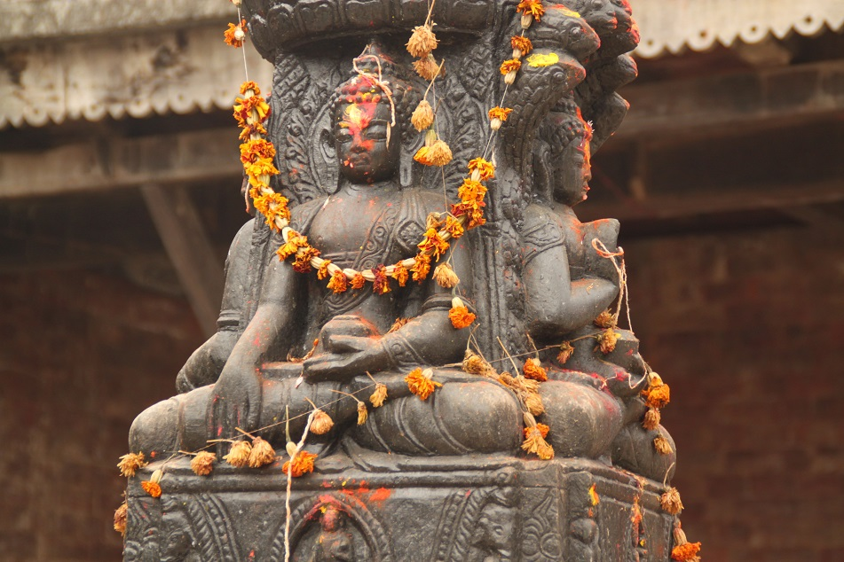 Chaitya Decorated with Garlands