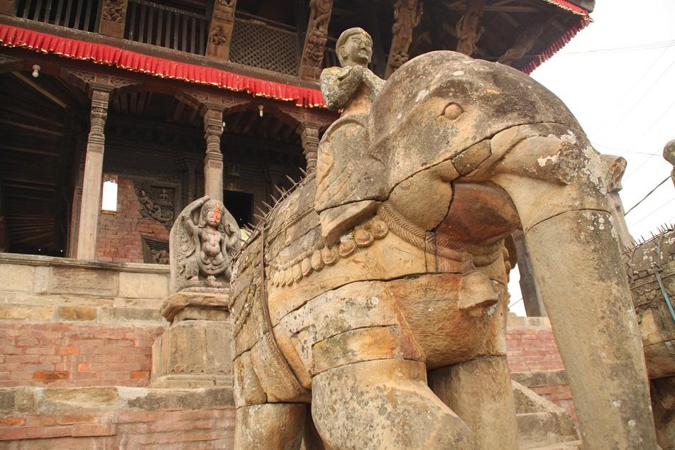 Guardian Statues of Uma Maheshwar Temple