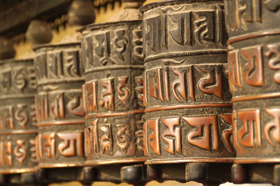 Prayer Wheels at Swayambunath