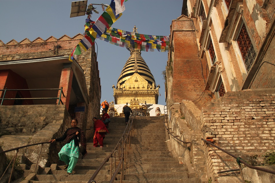 The Steep Staircase to the Temple