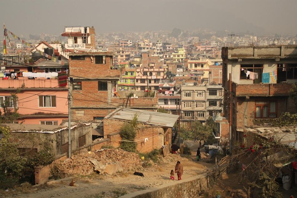 View of Crowded Kathmandu