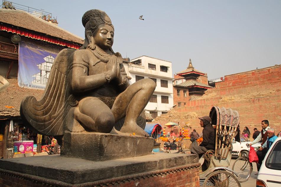 Garuda at the Southwestern Corner of Kathmandu Durbar Square