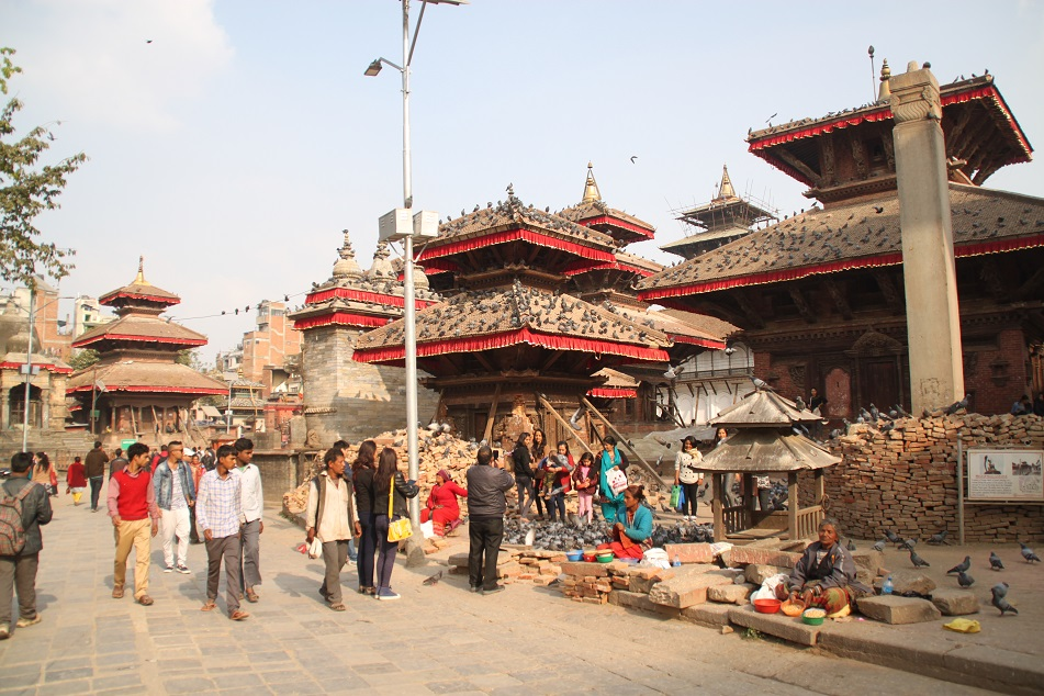 Makhan Tole, the Main Thoroughfare in Kathmandu Durbar Square
