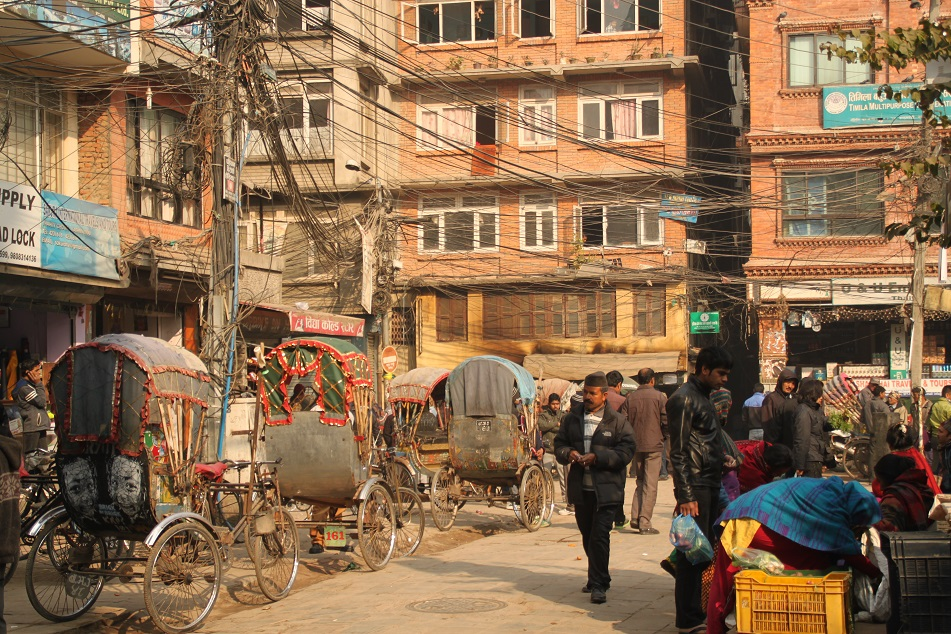 An Intersection between Thamel and Durbar Square