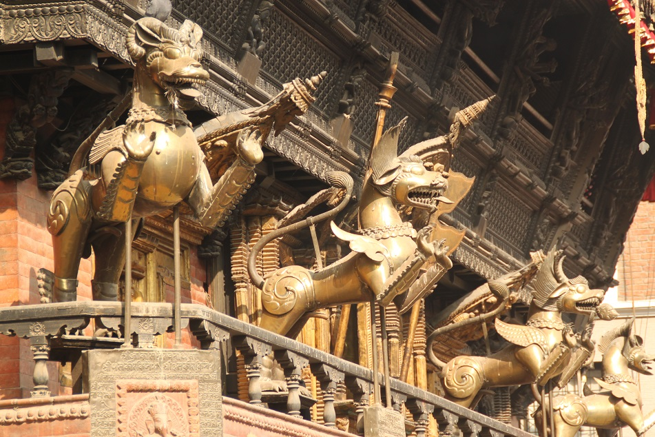 Statues of Mythical Beasts, Indra Chowk