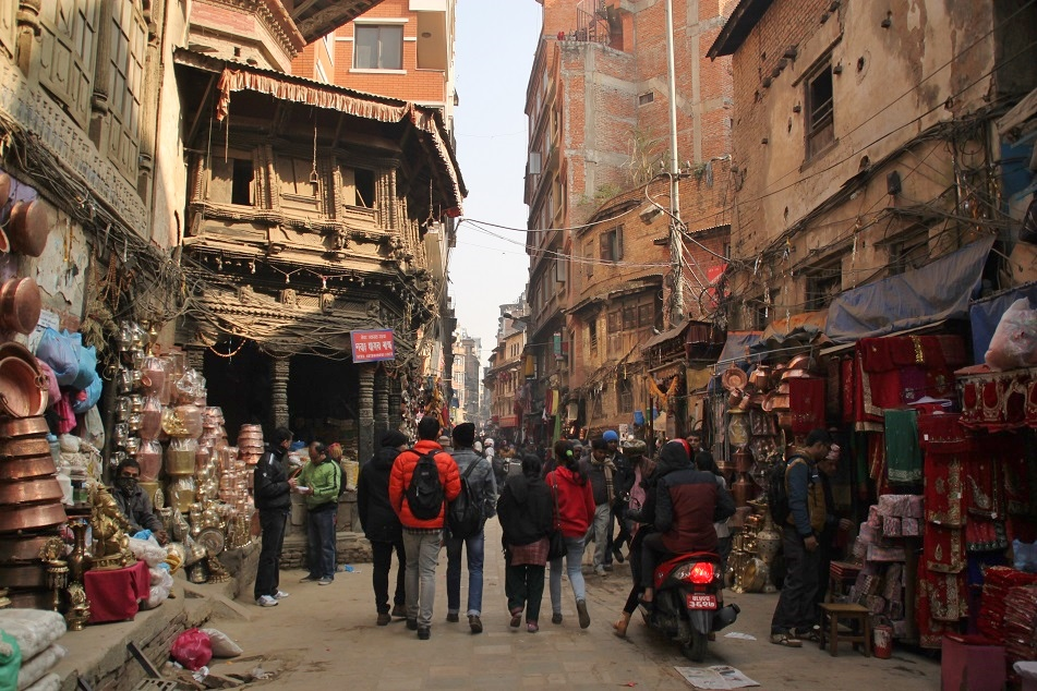 Kathmandu's Typical Labyrinthine Alley