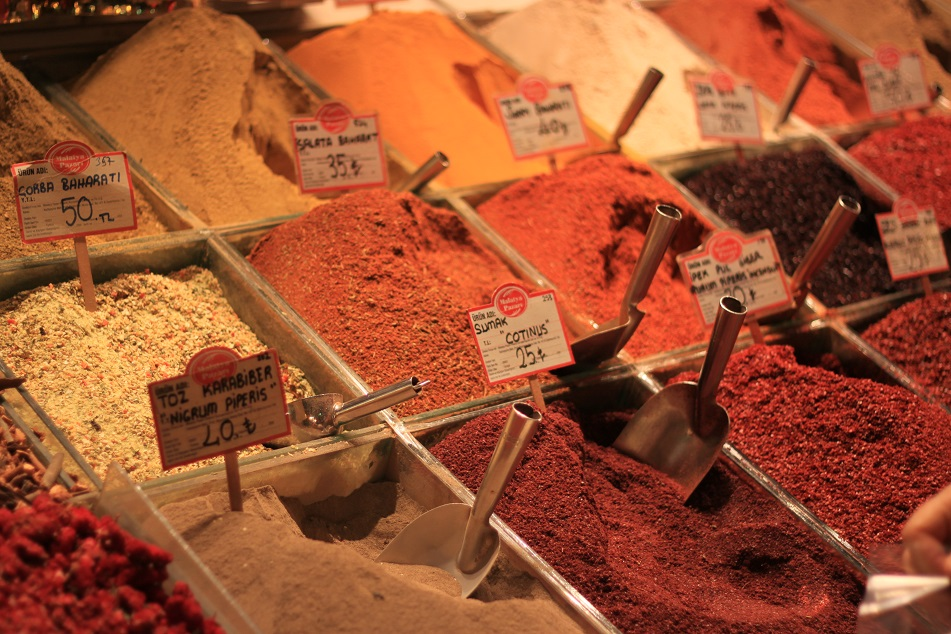 Spices at the Spice Bazaar (Egyptian Bazaar)