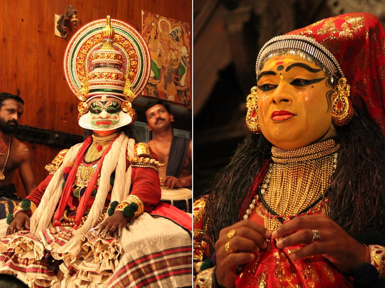 Dushasana (Dursasana, Left), the Kaurava Prince who Humiliated Draupadi (Drupadi, Right)