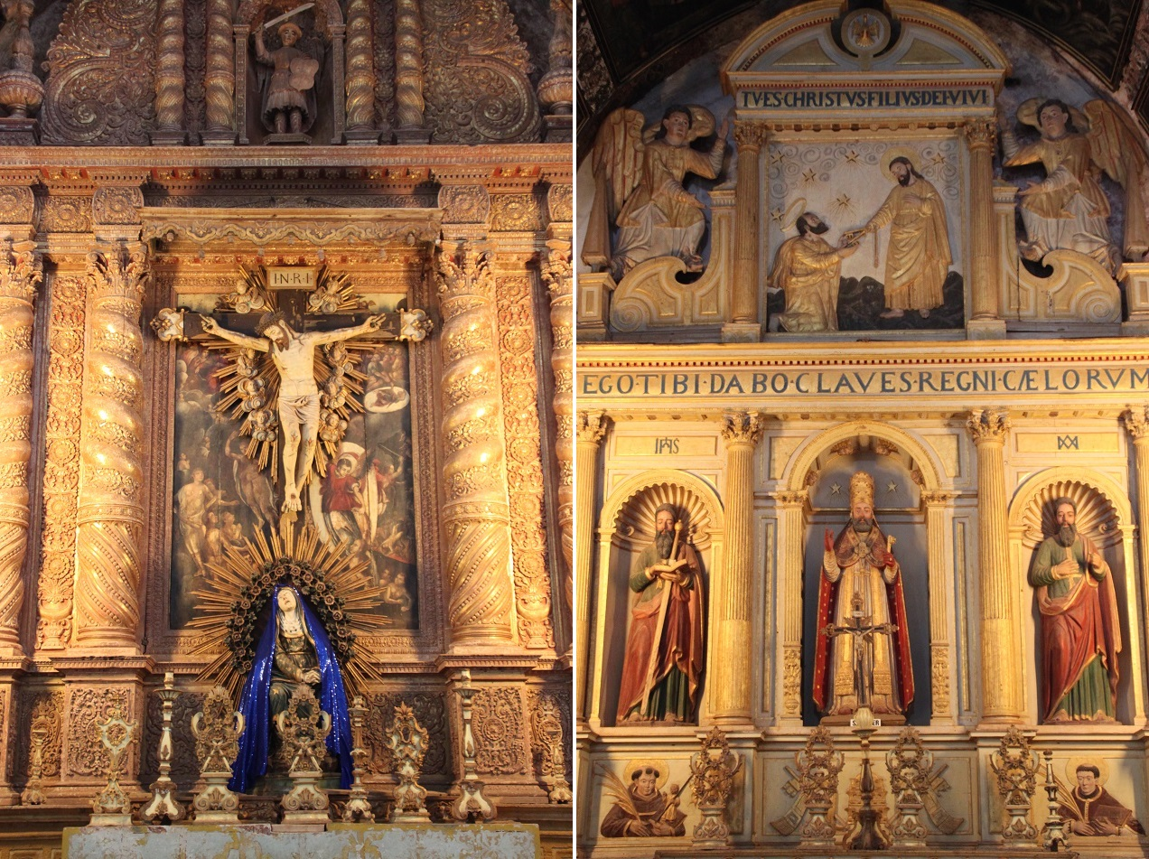 Highly Ornate Altars in the Basilica