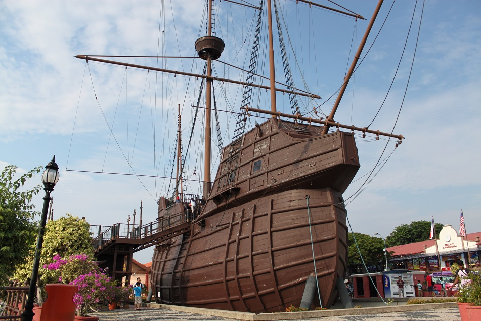 A Replica of Flor de Mar, A 16th-Century Portuguese Carrack