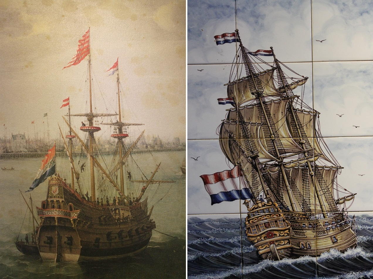 Romanticized Illustrations of Dutch Ships