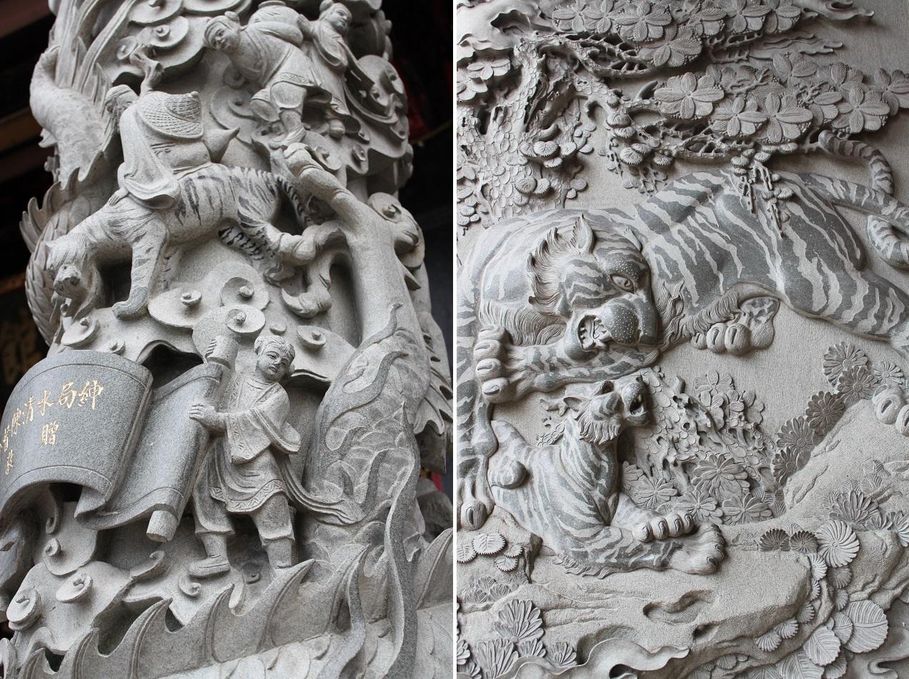 Decorated Pillars