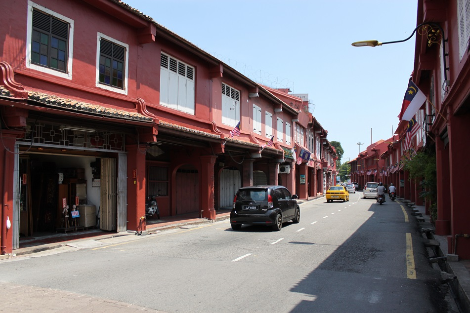 Shophouses near the Dutch Square