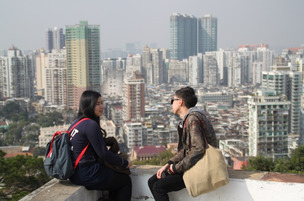 A Conversation from the Highest Point in the City (?)