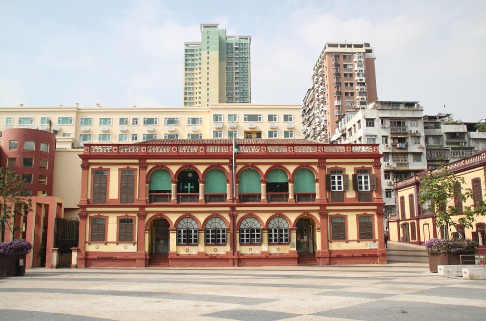 Old Building with Modern Background