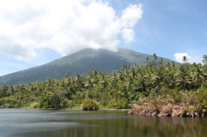 Mount Gamalama and Lake Tolire Kecil