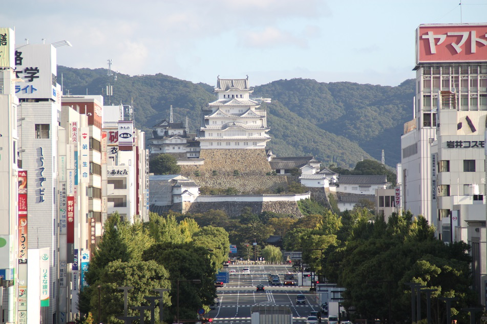 Himeji Castle Viewed from the City's Main Train Station