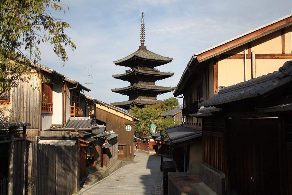 The Alleys near Yasaka Pagoda, Kyoto